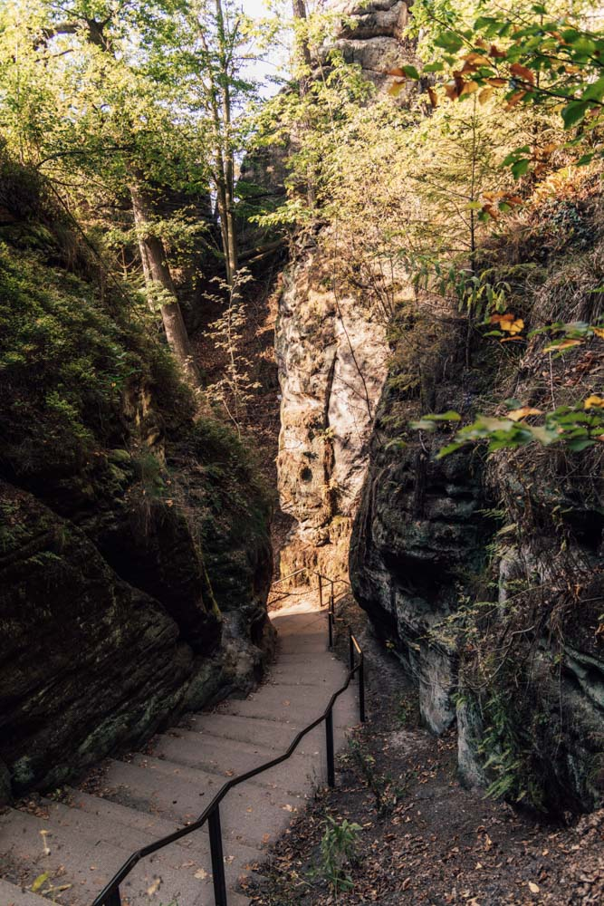 Wanderung von Rathen zu Bastei Stufen