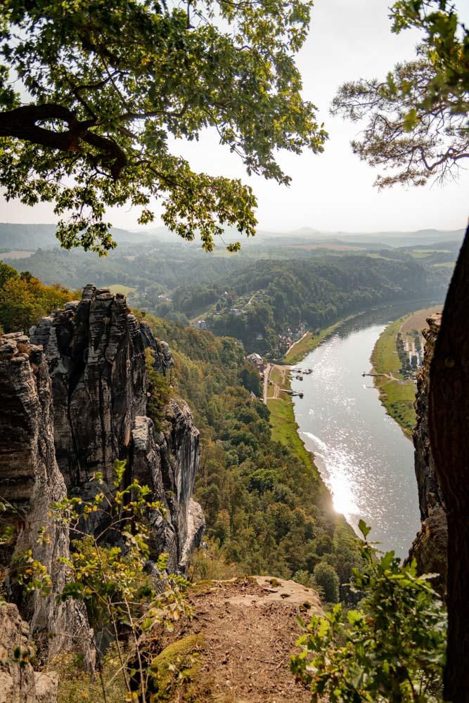 Blick auf die Elbe und das Elbtal