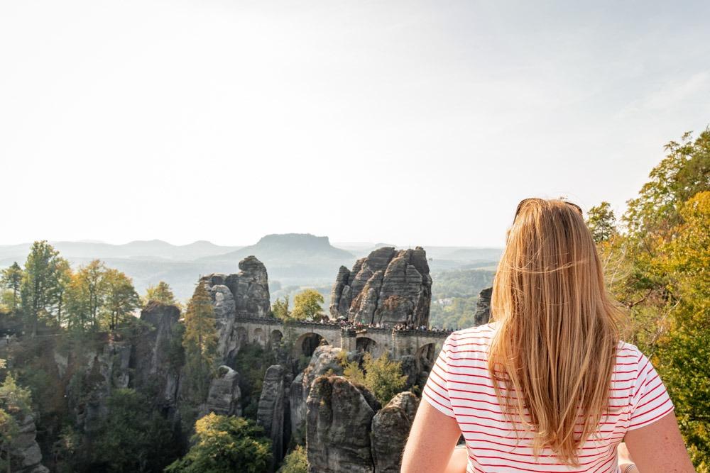 Wanderung zur Bastei in der Sächsischen Schweiz