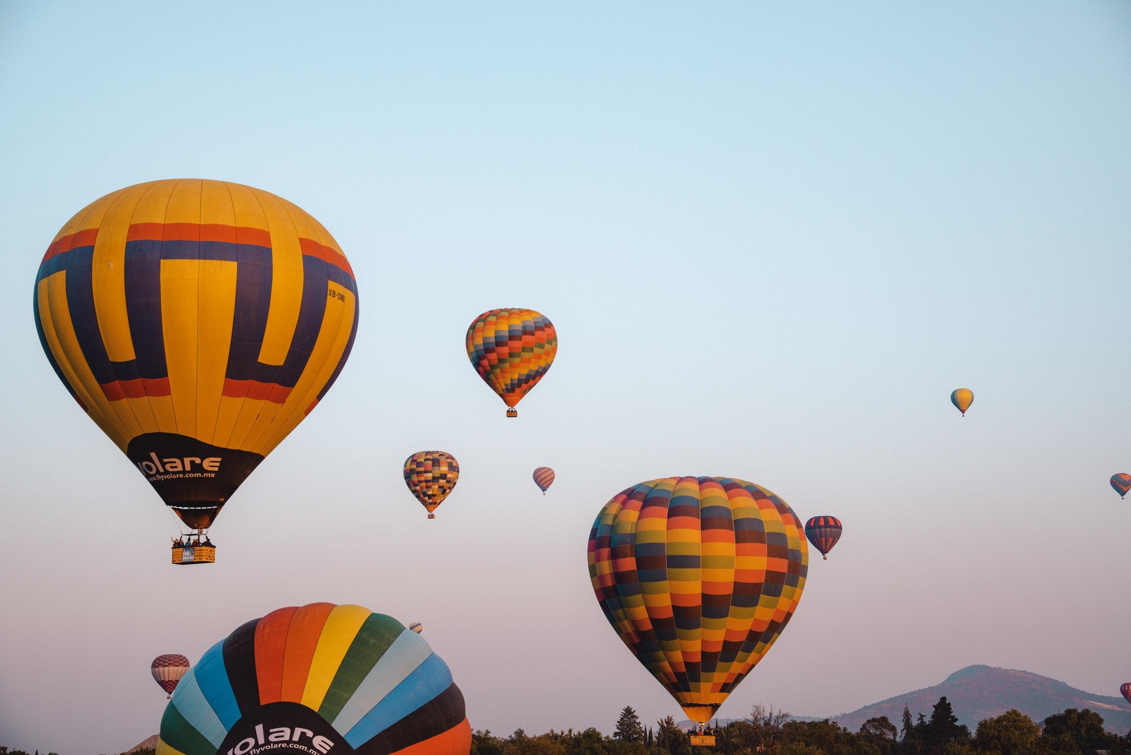 Teotihuacán: Eine Heißluftballon-Fahrt über die Pyramiden von Mexico City
