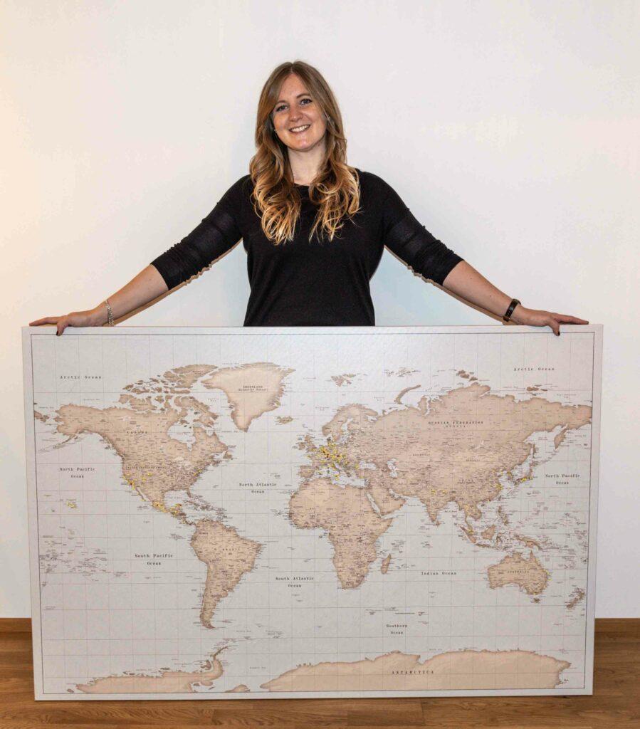 Pinnwand Weltkarte von trip map world